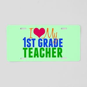 1st Grade Teacher Aluminum License Plate