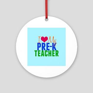 Pre-K Teacher Ornament (Round)