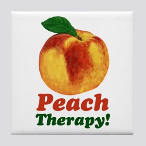 Funny Peach Therapy Tile Coaster
