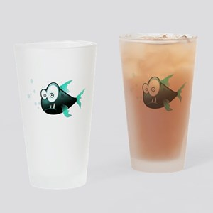 Piranha Fish Drinking Glass