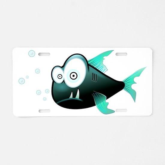 Piranha Fish Aluminum License Plate
