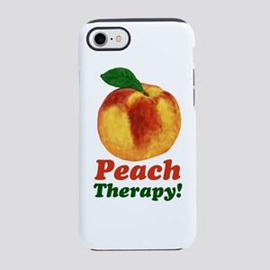 Funny Peach Therapy iPhone 8/7 Tough Case