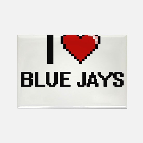 I Love Blue Jays Digitial Design Magnets