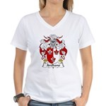 Arelhano Family Crest Women's V-Neck T-Shirt
