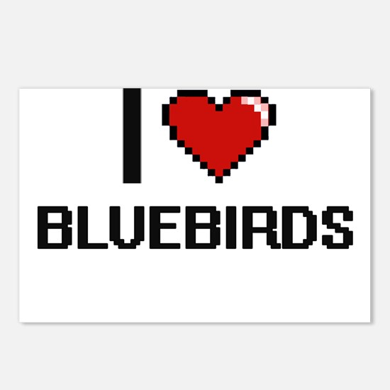 I Love Bluebirds Digitial Postcards (Package of 8)
