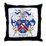 Aranha Family Crest Throw Pillow