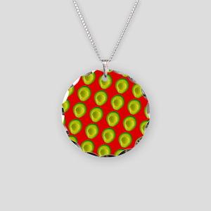 Avocado Fiesta for Hector Necklace Circle Charm