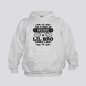 Awesome Little Brother Kids Hoodie