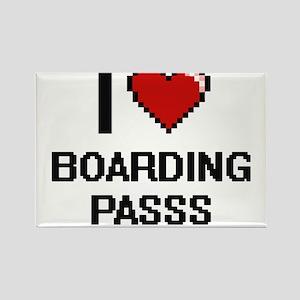 I Love Boarding Passs Digitial Design Magnets