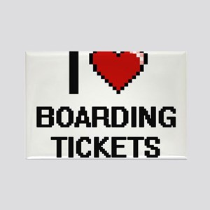 I Love Boarding Tickets Digitial Design Magnets