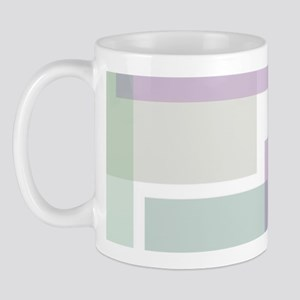 Abstract Rectangles Mug