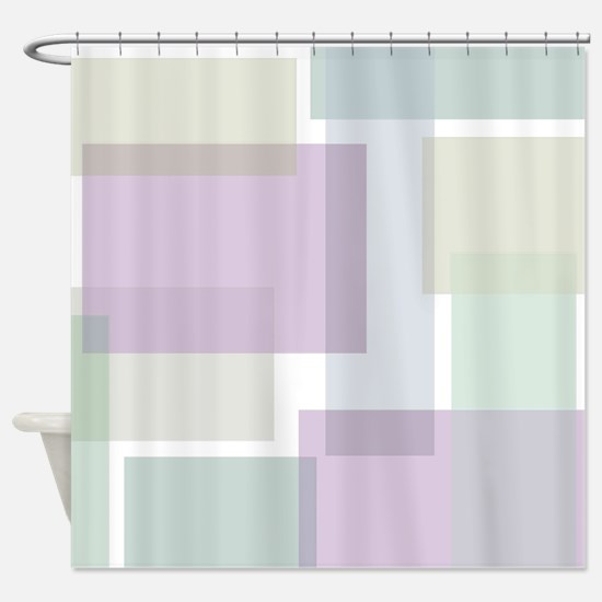 Abstract Rectangles Shower Curtain