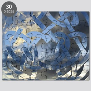 Celtic Heart Cloud Greeting Card Puzzle