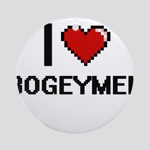 I Love Bogeymen Digitial Design Ornament (Round)