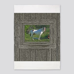 Horse in field 5'x7'Area Rug