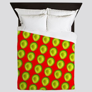 Avocado Fiesta for Hector Queen Duvet