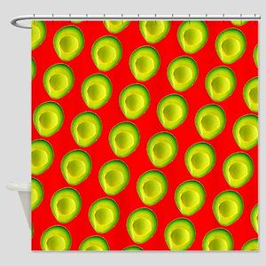 Avocado Fiesta for Hector Shower Curtain