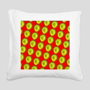 Avocado Fiesta for Hector Square Canvas Pillow