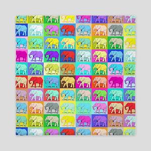 Colourful Elephants, Queen Duvet