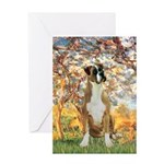 Spring with a Boxer Greeting Card