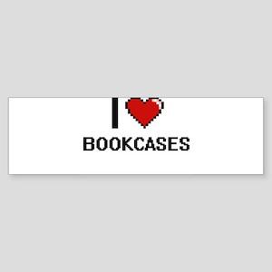 I Love Bookcases Digitial Design Bumper Sticker