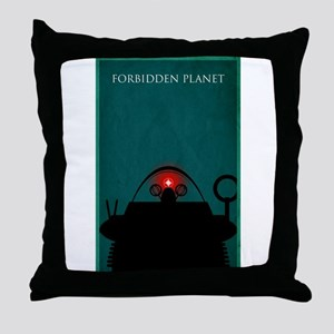 Forbidden Planet Minimal Poster Design Throw Pillo