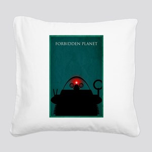 Forbidden Planet Minimal Poster Design Square Canv