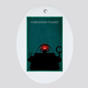 Forbidden Planet Minimal Poster Design Ornament (O