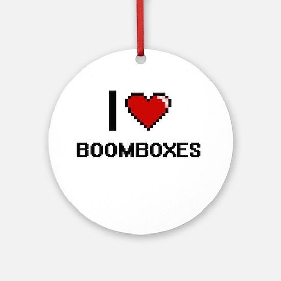 I Love Boomboxes Digitial Design Ornament (Round)