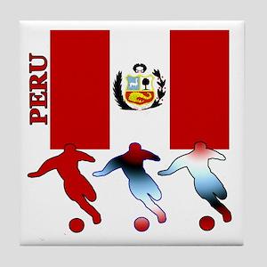 Peru Soccer Tile Coaster