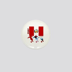 Peru Soccer Mini Button (100 pack)