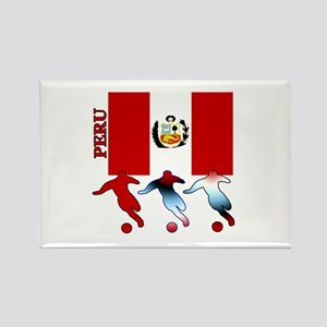 Peru Soccer Rectangle Magnet