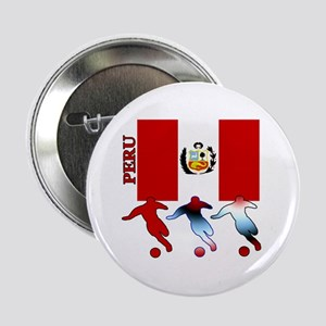 """Peru Soccer 2.25"""" Button (10 pack)"""