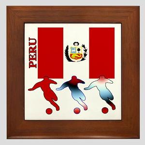 Peru Soccer Framed Tile