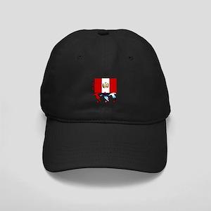 Peru Soccer Black Cap