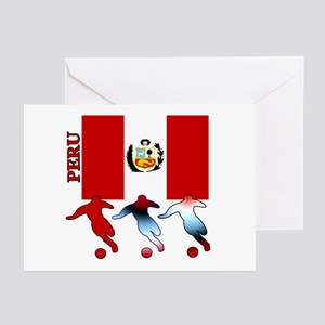 Peru Soccer Greeting Cards (Pk of 10)