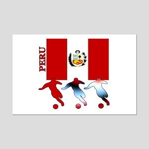Peru Soccer Mini Poster Print