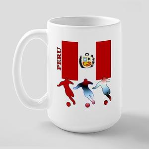 Peru Soccer Large Mug