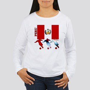 Peru Soccer Women's Long Sleeve T-Shirt