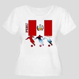 Peru Soccer Women's Plus Size Scoop Neck T-Shirt