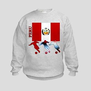 Peru Soccer Kids Sweatshirt
