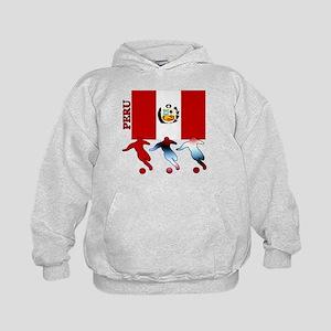 Peru Soccer Kids Hoodie