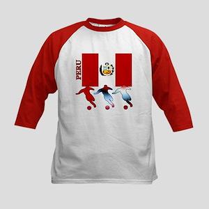 Peru Soccer Kids Baseball Jersey