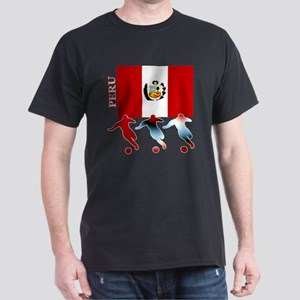 Peru Soccer Dark T-Shirt