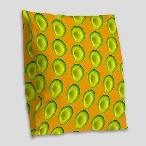 Delish Avocado Delia's Fave Burlap Throw Pillow