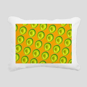 Delish Avocado Delia's F Rectangular Canvas Pillow