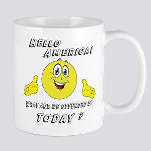 Hello America Sarcastic Smiley  Mug