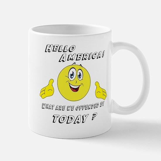 Hello America Sarcastic Smiley  Mug