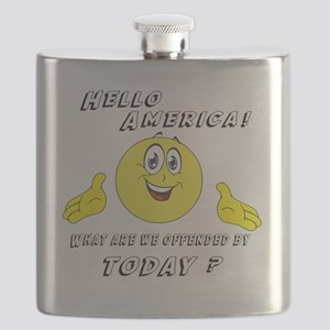 Hello America Sarcastic Smiley  Flask