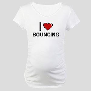 I Love Bouncing Digitial Design Maternity T-Shirt
